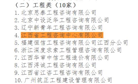 我公司成功入选九江市财政局政府和社会资本合作(PPP)工程类伟德国际娱乐954机构库